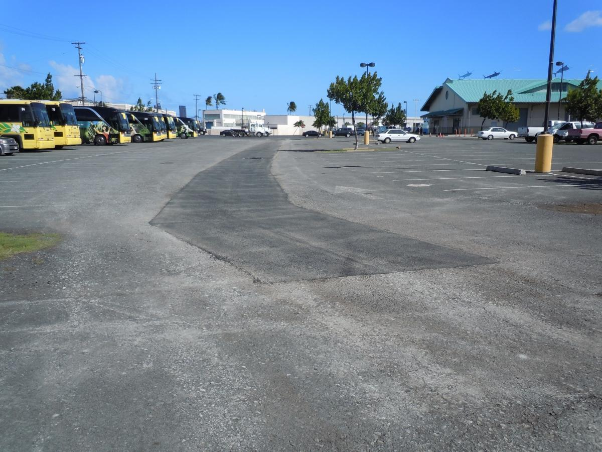 Pier 38 Parking Lot Before