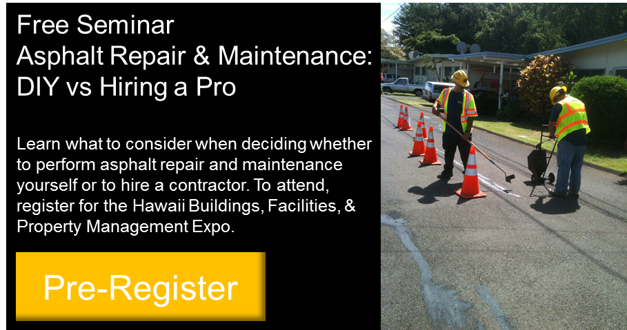 Free Asphalt Repair & Maintenance Seminar