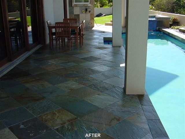 image of coated pool deck
